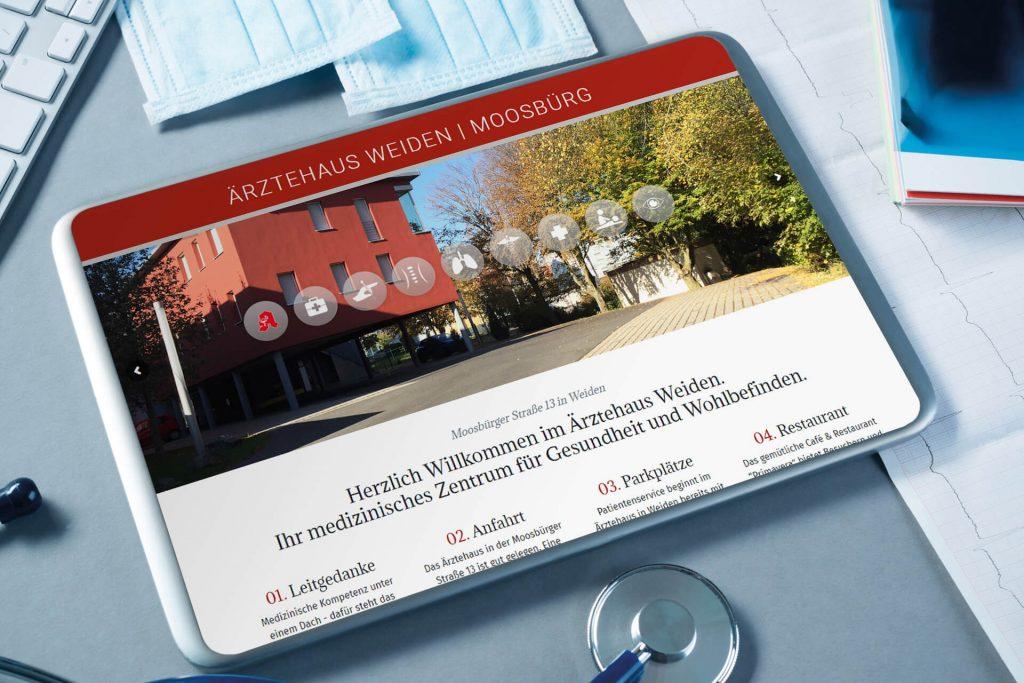 LandingPage für das Ärztehaus in Weiden