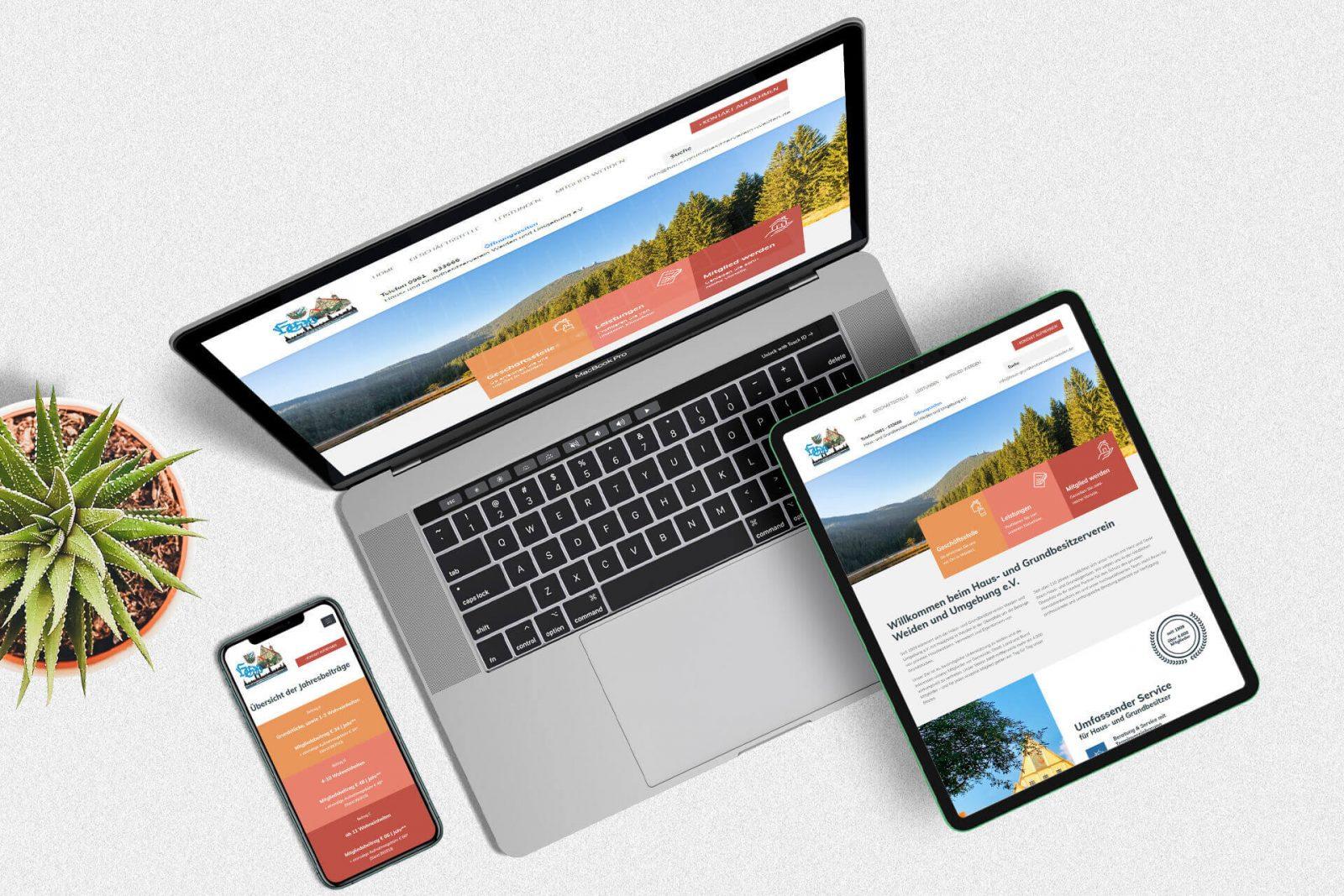 Internetseite für Verein