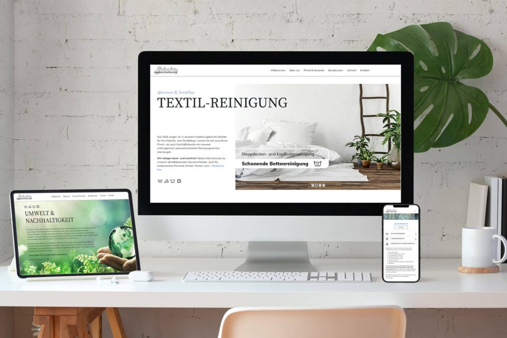 Fresher Look für Textil-Reinigung