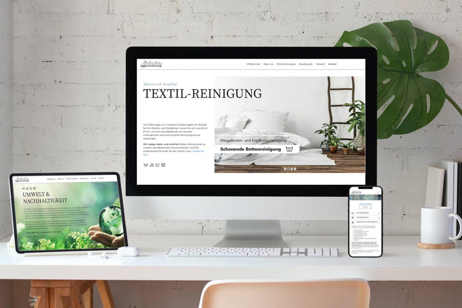 Onlinepräsenz für Reinigung