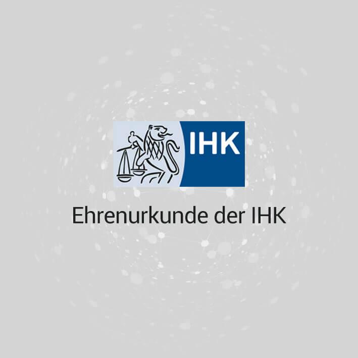 Ehrenurkunde der IHK Regensburg