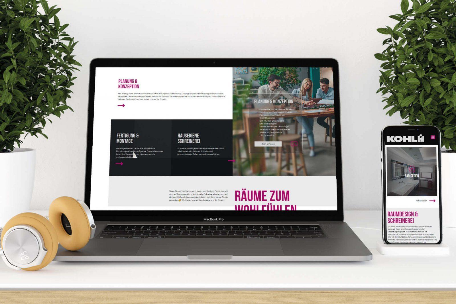 Webseite für Meisterbetrieb Handwerk