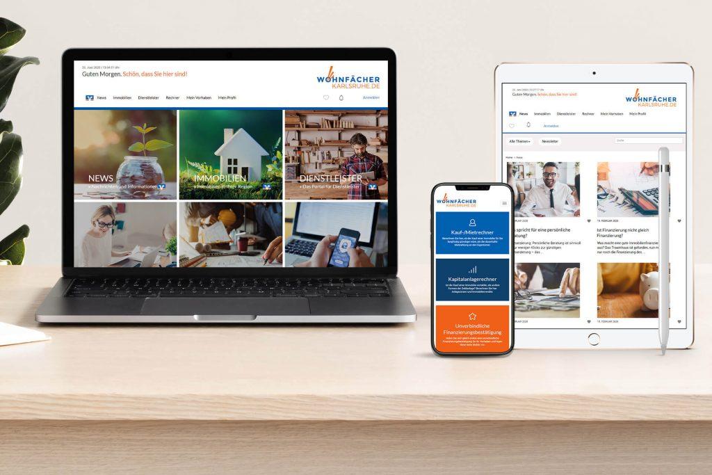 Onlineportal der Volksbank Karlsruhe