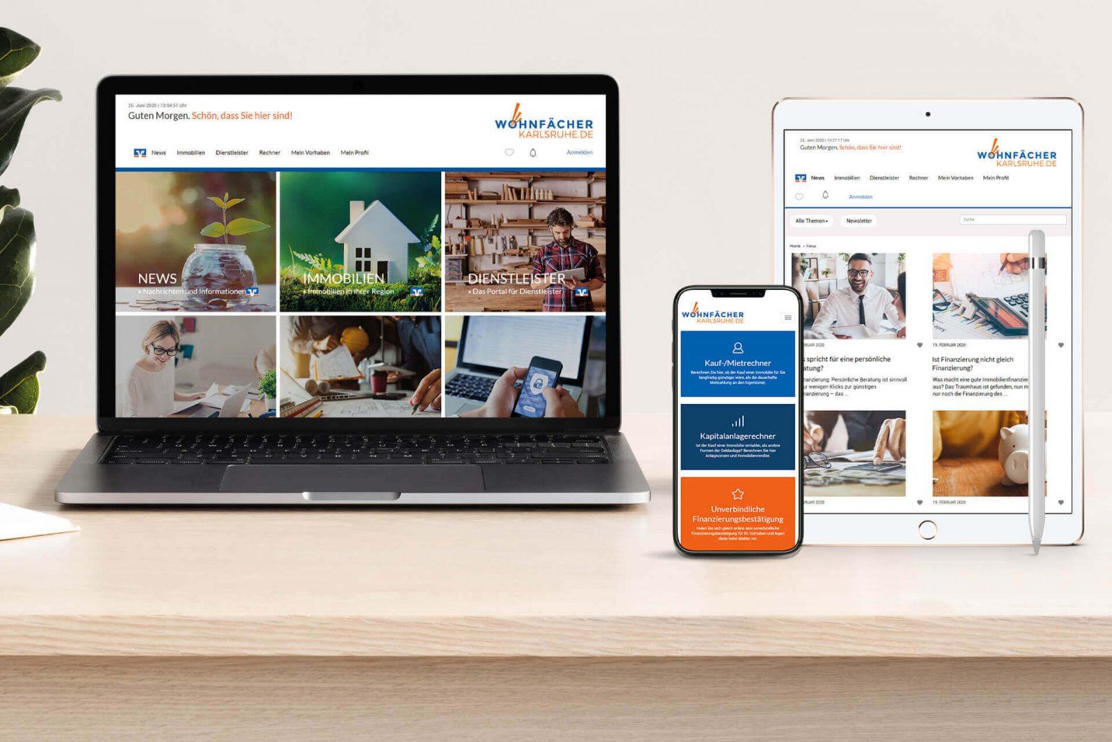 Onlineportal Finanzwesen