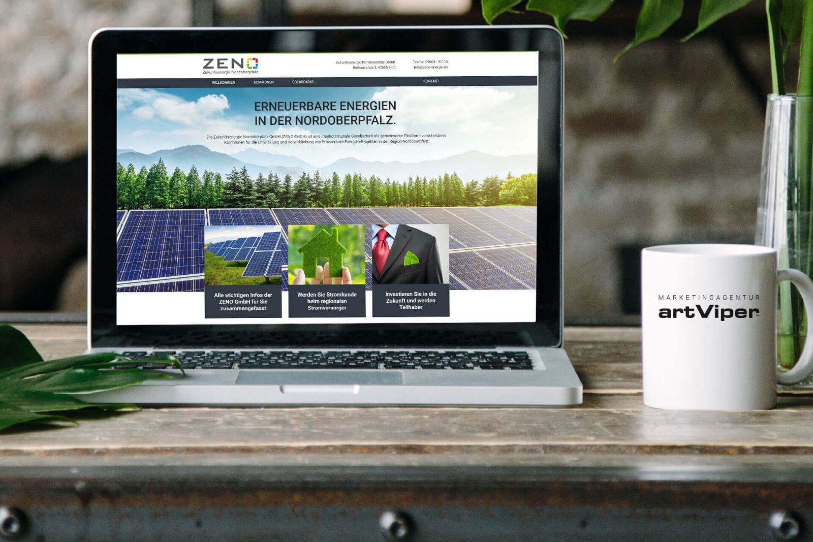 Energie Onlineseite