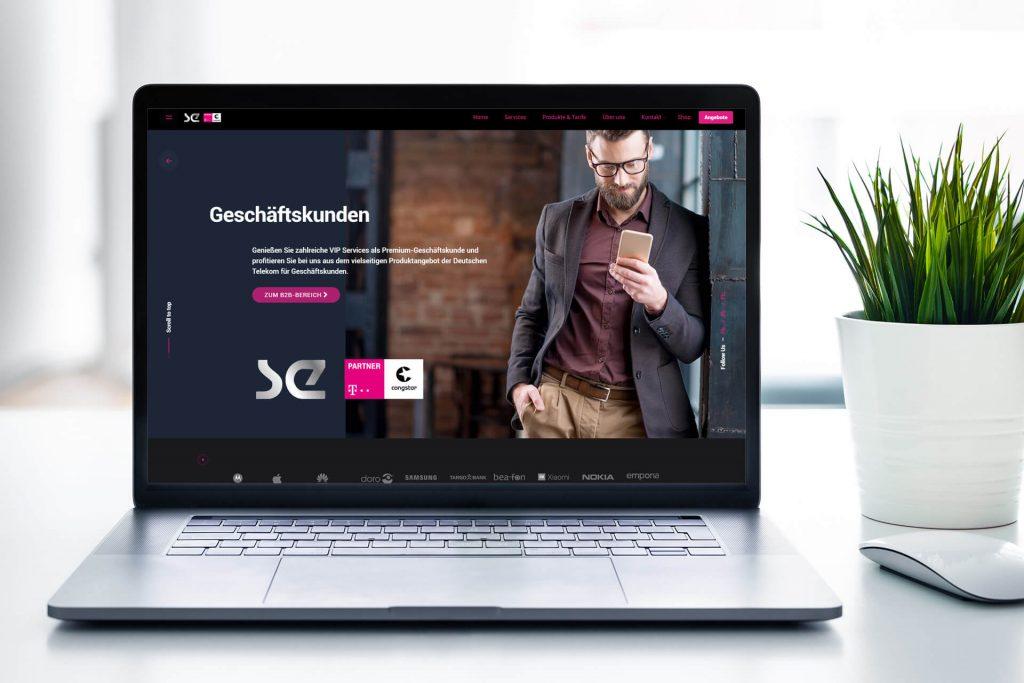 Neue Webseite für Telekom-Store